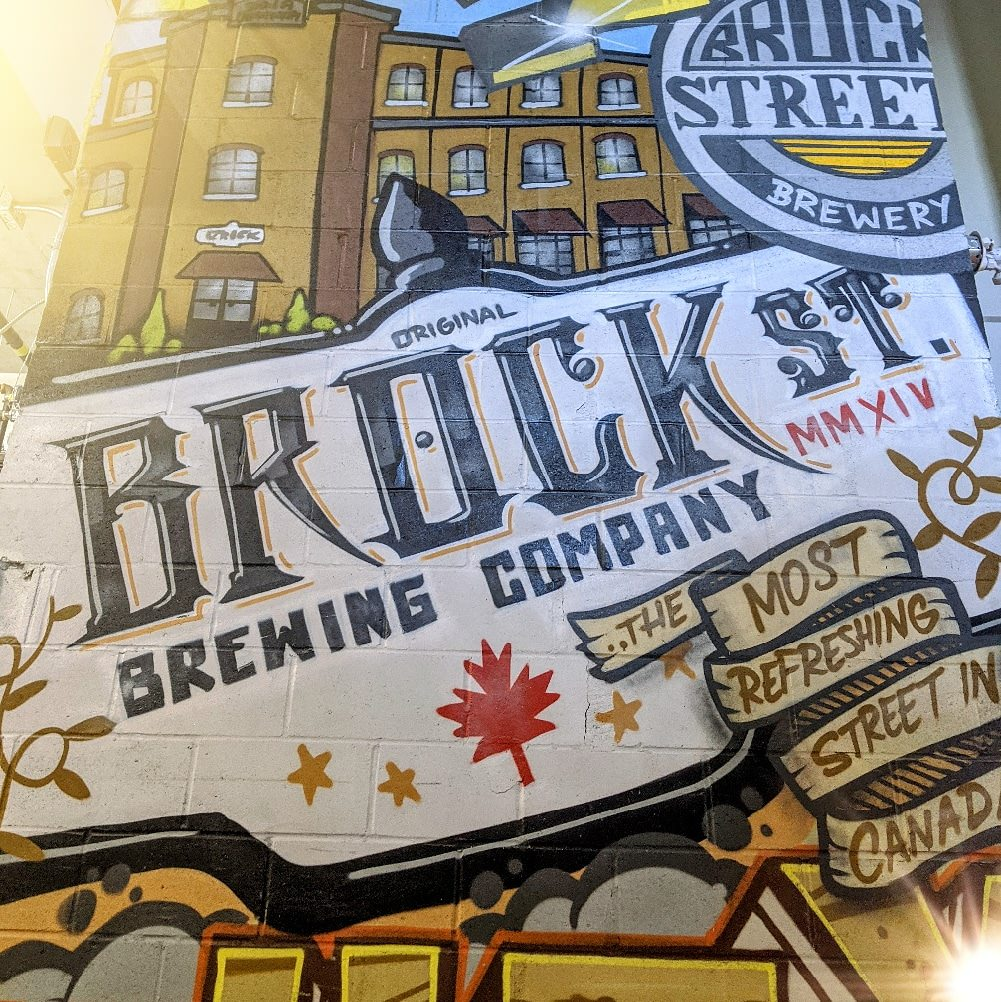 Wall mural of a vintage brewery sign