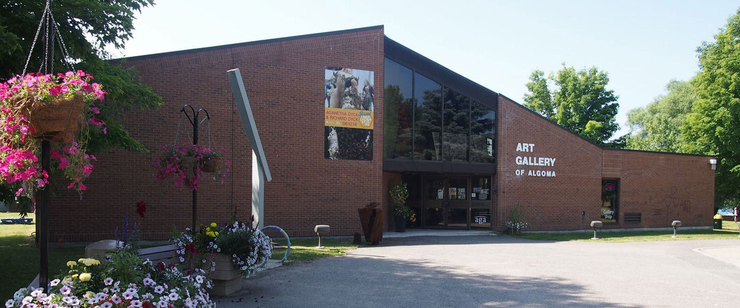 Exterior of Art Gallery of Algoma on a sunny day