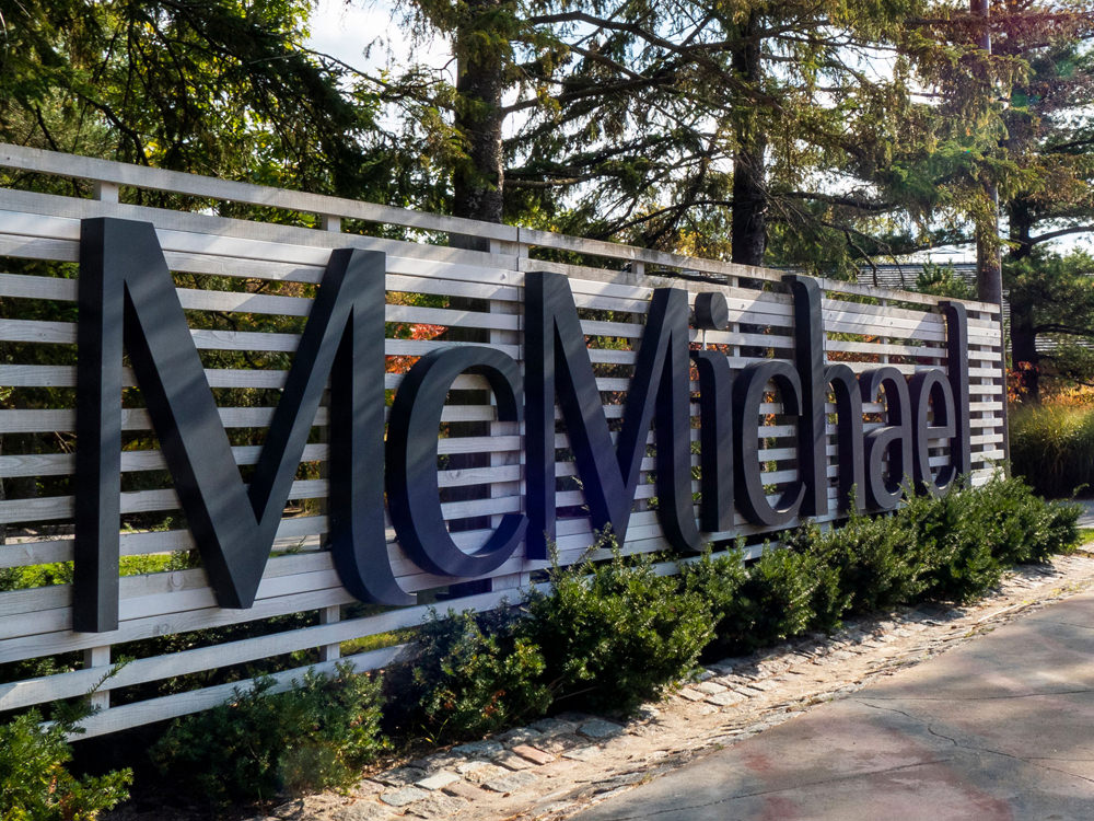 Large sign outside of the McMichael Canadian Art Collection