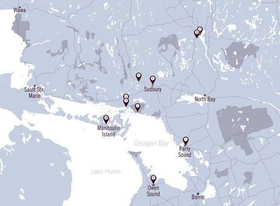 Map of Northeastern Ontario