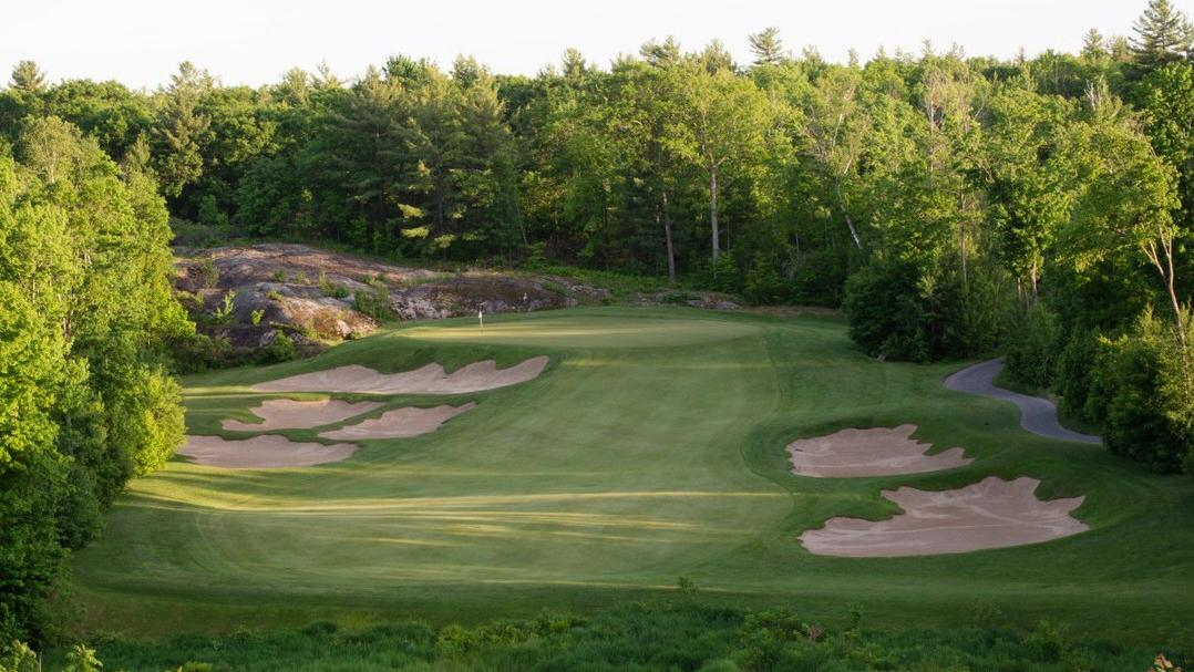 Lush, green fairway at a scenic golf course