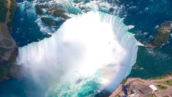 Aerial view of the Niagara Falls