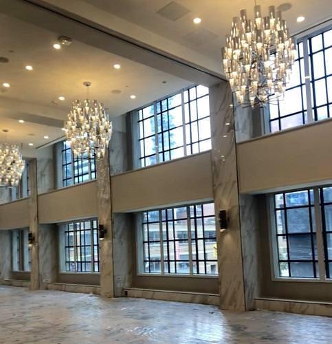 The ballroom of the QUBE Hotel Toronto