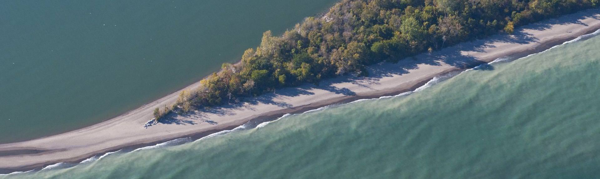Aerial view of Point Pelee National Park